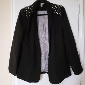 Forever 21 Black Studded Blazer